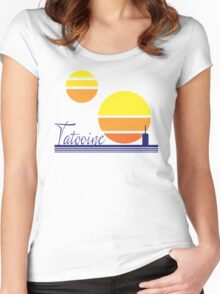 Tatooine Sunset Vintage 80s Design Style Women's Fitted Scoop T-Shirt