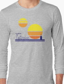 Tatooine Sunset Vintage 80s Design Style Long Sleeve T-Shirt