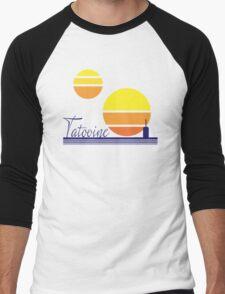 Tatooine Sunset Vintage 80s Design Style Men's Baseball ¾ T-Shirt