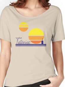 Tatooine Sunset Vintage 80s Design Style Women's Relaxed Fit T-Shirt