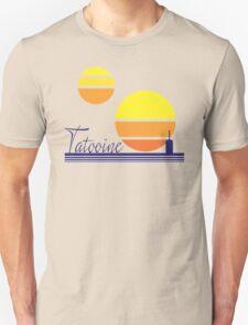 Tatooine Sunset Vintage 80s Design Style Unisex T-Shirt