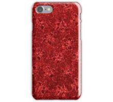 Vintage Floral Ribbon Red iPhone Case/Skin