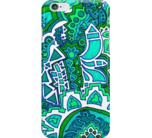 Green Sun Doodle iPhone Case/Skin