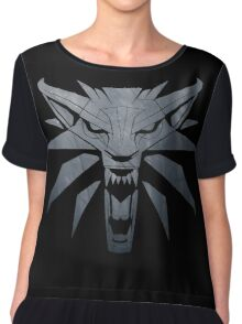 Forest and Wolf Medallion Chiffon Top