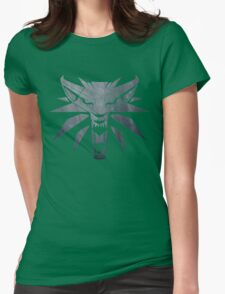 Forest and Wolf Medallion Womens Fitted T-Shirt