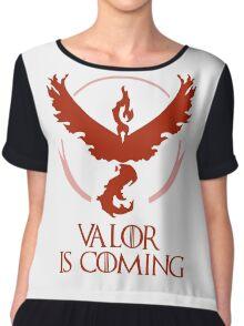 Pokemon Go Team Valor Is Coming (GOT) Chiffon Top