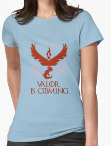 Pokemon Go Team Valor Is Coming (GOT) Womens Fitted T-Shirt