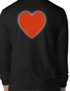 LOVE, Love Heart, Pure & Simple, RED Heart, on BLACK Long Sleeve T-Shirt