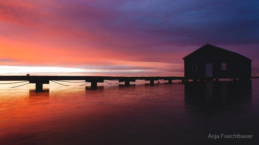 Crawley Boat House sunrise by Anja Fuechtbauer