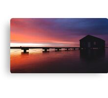 Crawley Boat House sunrise Canvas Print