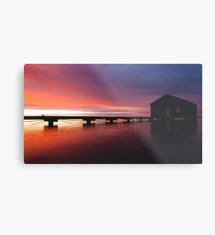 Crawley Boat House sunrise Metal Print
