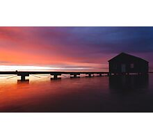 Crawley Boat House sunrise Photographic Print