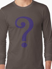 The Riddler  (Purple Question Mark) - Batman Long Sleeve T-Shirt
