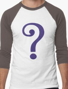 The Riddler  (Purple Question Mark) - Batman Men's Baseball ¾ T-Shirt