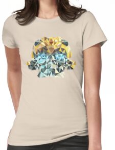 Bumblebee Portrait with Triangles Womens Fitted T-Shirt