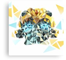 Bumblebee Portrait with Triangles Canvas Print
