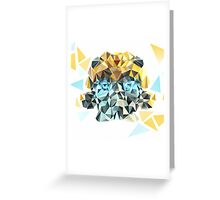Bumblebee Portrait with Triangles Greeting Card