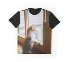 cat look from the window  Graphic T-Shirt