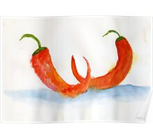Two Chilis – Daily Painting #877 Poster