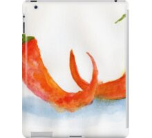 Two Chilis – Daily Painting #877 iPad Case/Skin