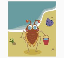 A small insect on the beach Kids Tee