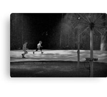 Dandelion chasers Canvas Print