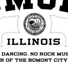 Bomont, IL No Dancing Ordinance Sticker
