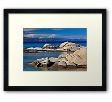 Rocky mermaid at Kavourotrypes beach Framed Print