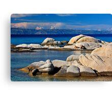 Rocky mermaid at Kavourotrypes beach Canvas Print