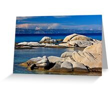 Rocky mermaid at Kavourotrypes beach Greeting Card