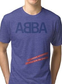 ABBA Under Attack Tri-blend T-Shirt