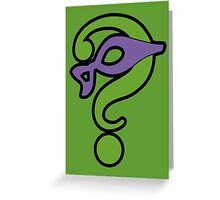 The Riddler  (Purple Question Mark and Mask) - Batman Greeting Card