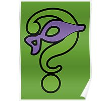The Riddler  (Purple Question Mark and Mask) - Batman Poster