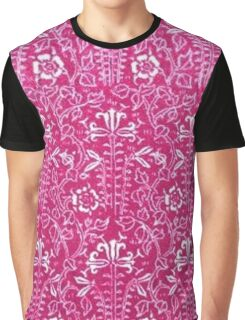Vintage Floral Strawberry Pink Graphic T-Shirt