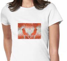 Redbirds facing away Womens Fitted T-Shirt