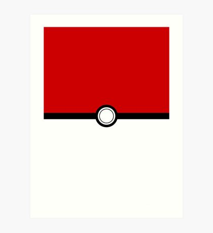 POKEMON POKEBALL - POKEMON GO Art Print