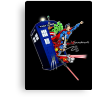 Heroes in the Tardis Canvas Print