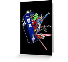 Heroes in the Tardis Greeting Card