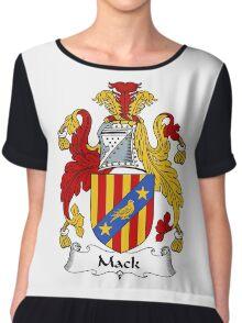 Mack Coat of Arms / Mack Family Crest Chiffon Top