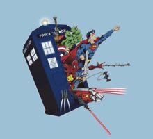 Heroes in the Tardis T-Shirt