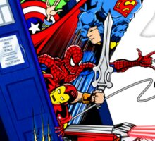 Heroes in the Tardis Sticker