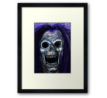 SKULL SCREAM Framed Print