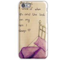 Bed Illustration iPhone Case/Skin