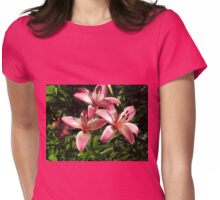lovely pink lillies Womens Fitted T-Shirt