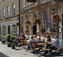 """ Alfresco Diners, Bath "" by Richard Couchman"