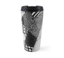 Busy Pattern Illustration Travel Mug