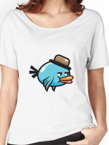A funny blue bird drawing Women's Relaxed Fit T-Shirt