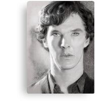 Benedict Cumberbatch as Sherlock Design 1 Canvas Print