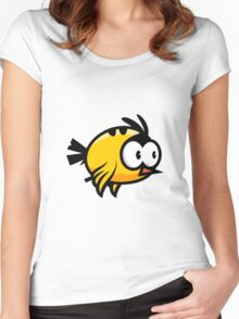 A funny yellow bird drawing Women's Fitted Scoop T-Shirt
