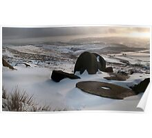 Millstones at Stanage Edge Poster
